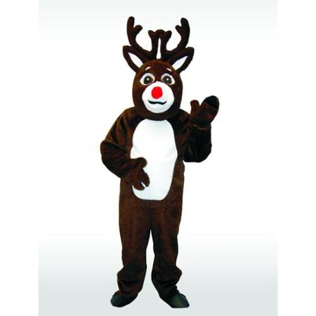 Economy Reindeer Costume with Covered Head