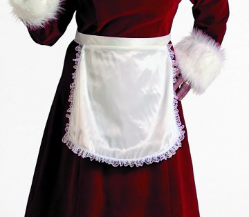 Satin Apron - Mrs Claus