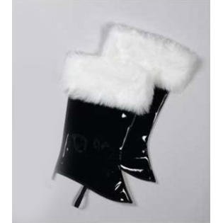Deluxe Plush Patent Leather Boot Tops