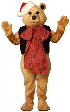 Fancy Bear With Vest, Bow & Hat