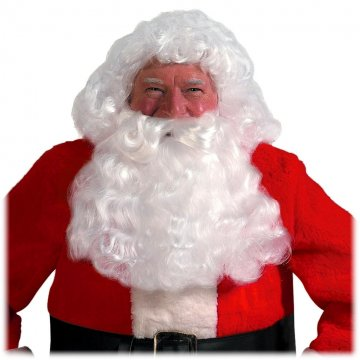 Santa Wig, Beard & Mustache Set Bright White