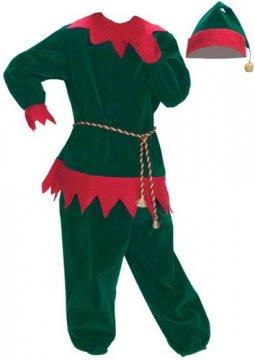 Child's Velvet Elf Suit