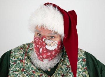 Reversible Santa Claus Mask