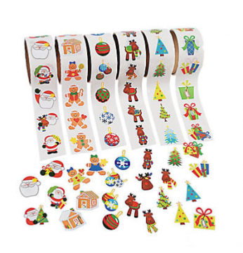 Christmas Sticker Roll Pack