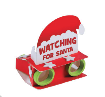 Santa Binoculars Craft Kit
