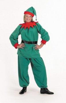 Velour Elf Suit Costume
