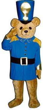 Christmas Soldier Bear Mascot Costume