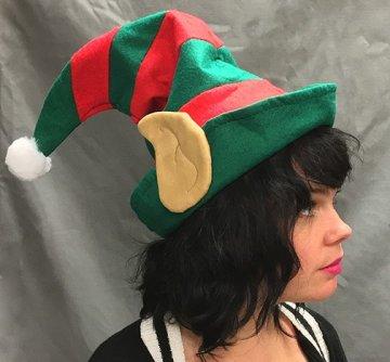 Heavy Felt Elf Hat with ears.