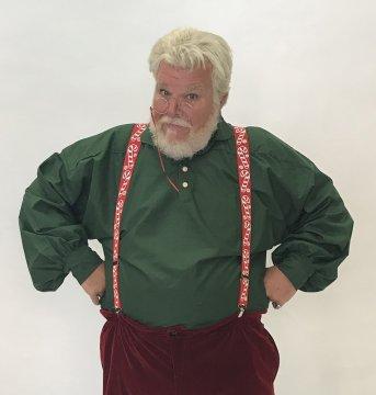 Evergreen Santa Shirt
