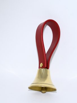 Leather Loop Brass Handbell