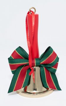 Caroling and Santa Claus Hand Bell