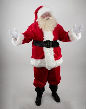 Professional Quality Plush Santa Suit