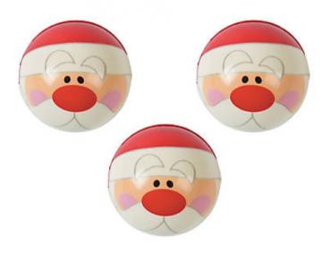 Santa Squeeze Balls