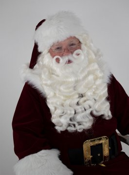 Santa Wig, Beard & Mustache - Supreme Quality With a Separate Mustache.