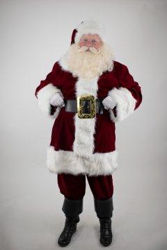 Planetsanta Traditional-Look Velvet Santa Suit
