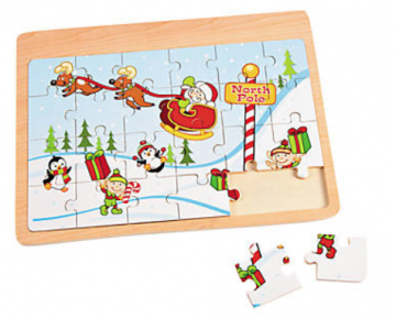 Wooden Christmas Puzzle