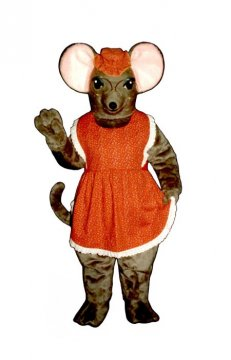 Granny Mouse With Glasses, Hat and Apron