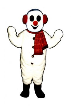 Snowman With Earmuffs and Scarf