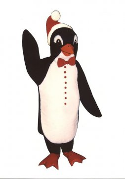 Santa Penguin With Bowtie and Hat