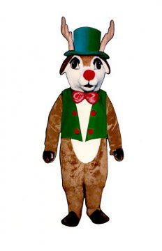 Yuletide Deer With Vest, Hat and Bowtie