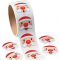 Santa Face Sticker Roll